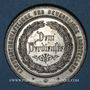 Coins Alsace. Wissembourg. Salon professionnel agricole 1884. Médaille étain. 35,85 mm