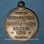 Coins Alsace. Wittenheim. Chorale masculine. Bénédiction du drapeau. 1895. Médaille laiton