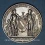 Coins Bas-Rhin. Comité régional agricole du Bas-Rhin. 1875.  Médaille argent. 45,68 mm