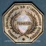 Coins Bas-Rhin. Conseil départemental de l'instruction publique. Jeton argent. Oct. Gravé par Oudiné.