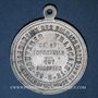 Coins Commémoration des morts de la Bataille de Mulhouse du 19.8.1914 du 35e & 42e d'infanterie. 1921. Alu