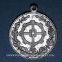 Coins Mulhouse. Bénédiction du drapeau du club de gymnastique «Bürgerturn Verein». 1908. Médaille alu.
