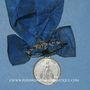Coins Mulhouse. Congrégation des Hommes. (1874). Médaille maillechort. Avec son oeillet et son ruban
