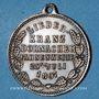 Coins Mulhouse-Dornach. Société de Chant - Consécration du drapeau. 1897 médaille. Laiton argenté. 27 mm.