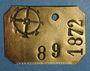 Coins Mulhouse. Plaque de taxe sur les chiens. 1872