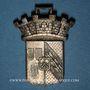 Coins Sainte-Marie-aux-Mines. Manifestation. 1899. Bronze argenté et découpé aux contours du motif