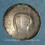 Coins Strasbourg. Evêché. Epoque des Hohenstaufen (1138-1284). Denier sans empreinte, vers 1250-1270