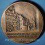 Coins Strasbourg. Hommage au professeur E. Vaucher. 1956. Médaille bronze. 68 mm. gravée par M. Delannoy