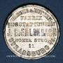 Coins Strasbourg. J. L. Erlenbach (lingerie, confection). Médaille zinc nickelé. 29,17 mm