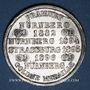Coins Strasbourg. J. L. Erlenbach (lingerie, confection). Médaille zinc nickelé. 29,2 mm, tranche cannelée