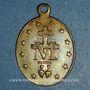 Coins Thierenbach. Souvenir de Notre Dame (19e - début 20e). Laiton. Ovale, avec œillet. 18,85 x 26,72 mm