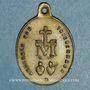 Coins Thierenbach. Souvenir de Notre Dame (19e - début 20e). Laiton. Ovale, avec anneau. 18,86 x 26,58 mm