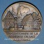 Coins Tricentenaire de la réunion de l'Alsace à la France. (1948). Médaille bronze. 67 mm