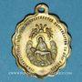 Coins Trois Epis. Souvenir du sanctuaire (fin 19e - début 20e). Médaille laiton. Ovale. 19,02 x 24,09 mm