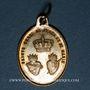 Coins Trois Epis. Souvenirs du sanctuaire (19e). Laiton argenté. 23,83 x 17,02 mm