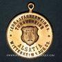 Coins Wittenheim. Alsatia. Tournoi de gymnastique et consécration du drapeau. 1909. Médaille cuivre doré.
