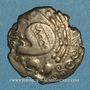 Coins Aulerques Eburovices. Hémistatère à la joue tatouée, 2e siècle - 1ère moitié du 1er siècle av. J-C