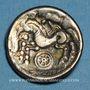 Coins Calètes. Pays de Caux. Hémistatère à la roue, 2e siècle av J-C