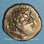 Coins Carnutes (région de Chartres). Statère d'électrum à la joue ornée, 1er s. av. J-C