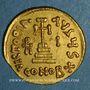 Coins Empire byzantin. Héraclius avec Héraclius Constantin et Héracleonas (632-41) Solidus. Constantinople