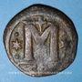 Coins Empire byzantin. Anastase (491-518). Follis. Constantinople, 5e officine, 498-518