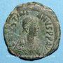 Coins Empire byzantin. Justin I (518-527). Follis. Constantinople, 2e officine. 527-532