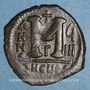 Coins Empire byzantin. Justin II (565-578). 1/2 follis. Théoupolis (Antioche).1ère officine 574-575