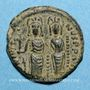 Coins Empire byzantin. Justin II (565-578). 1/2 follis. Thessalonique. 568-569