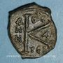 Coins Empire byzantin. Justin II (565-578). 1/2 follis. Thessalonique. 575-576