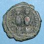 Coins Empire byzantin. Justin II (565-578). Follis. Nicomédie. 1ère officine, 568-569
