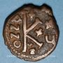 Coins Empire byzantin. Justinien I (527-565). 1/2 follis. Cyzique, 551-552