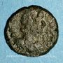 Coins Empire byzantin. Justinien I (527-565). 1/2 follis. Salona (?), Dalmatie. 2e moitié du 6e siècle