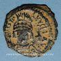 Coins Empire byzantin. Justinien I (527-565). Décanoummion. Théoupolis (Antioche), 555-556