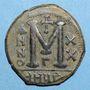 Coins Empire byzantin. Justinien I (527-565). Follis. Antioche. 3e officine, 546-547