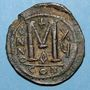 Coins Empire byzantin. Justinien I (527-565). Follis. Constantinople. 1ère officine, 541-542