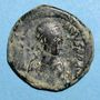 Coins Empire byzantin. Justinien I (527-565). Follis. Constantinople. 3e officine, 527/538