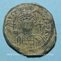 Coins Empire byzantin. Justinien I (527-565). Follis. Constantinople, 4e officine. 547-548