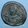 Coins Empire byzantin. Justinien I (527-565). Follis. Théoupolis (Antioche). 3e officine, 547-548