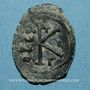 Coins Empire byzantin. Maurice Tibère (582-602). 1/2 follis. Constantinople, 3e officine. 582-583
