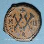 Coins Empire byzantin. Maurice Tibère (582-602). 1/2 follis. Théopoulis (Antioche), 587-588