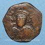 Coins Empire byzantin. Maurice Tibère (582-602). Follis. Nicomédie, 2e officine, 591-592