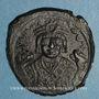 Coins Empire byzantin. Maurice Tibère (582-602). Follis. Théopoulis. 3e officine, 597-598