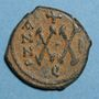 Coins Empire byzantin. Phocas (602-610). 1/2 follis. Théoupolis (Antioche). 602-603