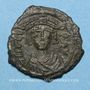 Coins Empire byzantin. Tibère II Constantin (578-582). Décanoummion. Constantinople, 579-582