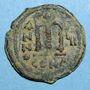 Coins Empire byzantin. Tibère II Constantin (578-582). Follis. Constantinople. 1ère officine, 580-581