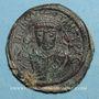 Coins Empire byzantin. Tibère II Constantin (578-582). Follis. Constantinople. 5e officine, 581-582
