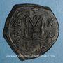 Coins Héraclius (610-641) et Héraclius Constantin (613-631) Follis. Constantinople. 3e officine, 629-630