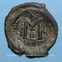 Coins Héraclius (610-641) et Héraclius Constantin. Follis. Séleucie d'Isaurie, 2e officine 616-617