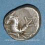 Coins Allobroges. Région du Dauphiné. Denier à l'hippocampe, 1er s. av. J-C