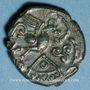 Coins Ambiani. Région d'Amiens. Bronze au coq, dit au type de Lewarde, vers 60-25 av. J-C